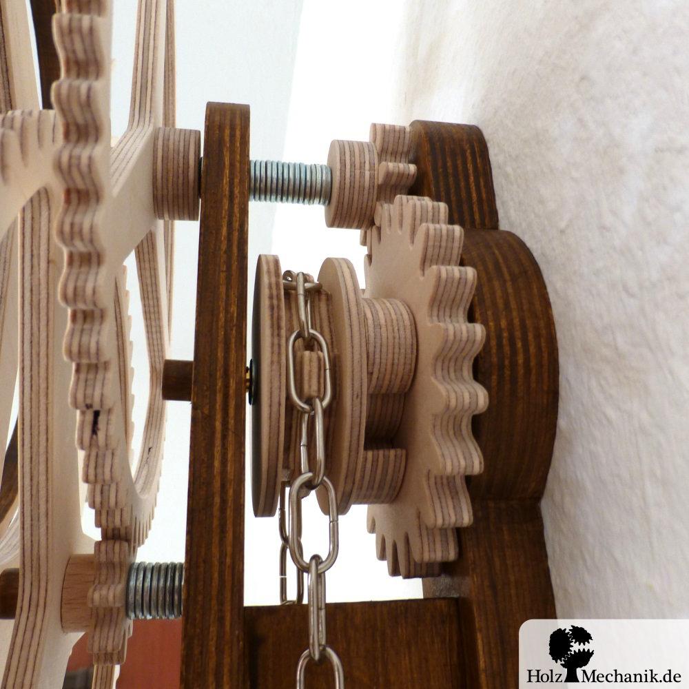 Holzmechanikde Wooden Clock Korona